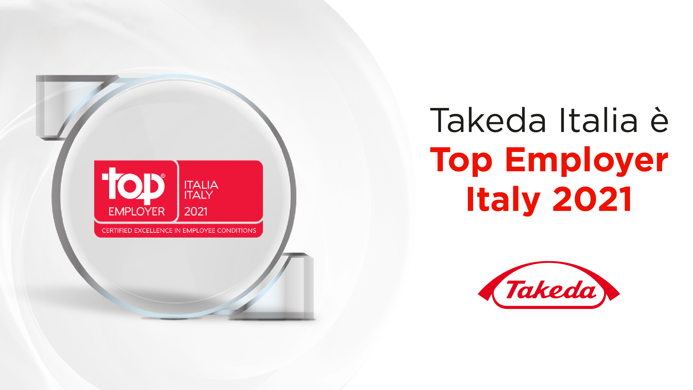 Takeda Italia certificata Top Employers Italia 2021