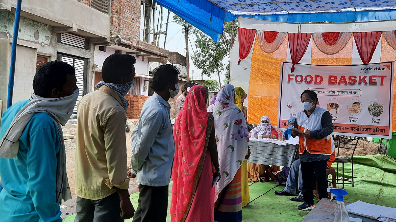 World Vision Food Basket Program, India.