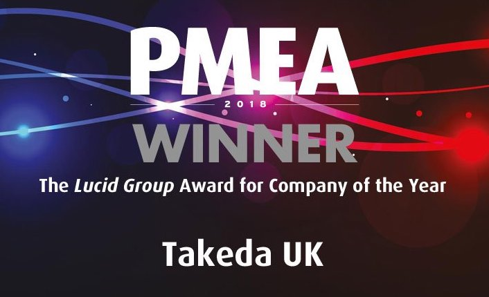Takeda UK wins PMEA 2018 Company of the Year Award